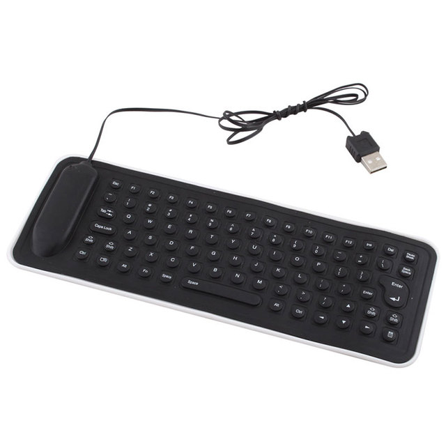 Flexible Gaming Mechanical Keyboard USB Wired Keyboard English Silicone PC Keyboard for Desktop Laptop Notebook #22158