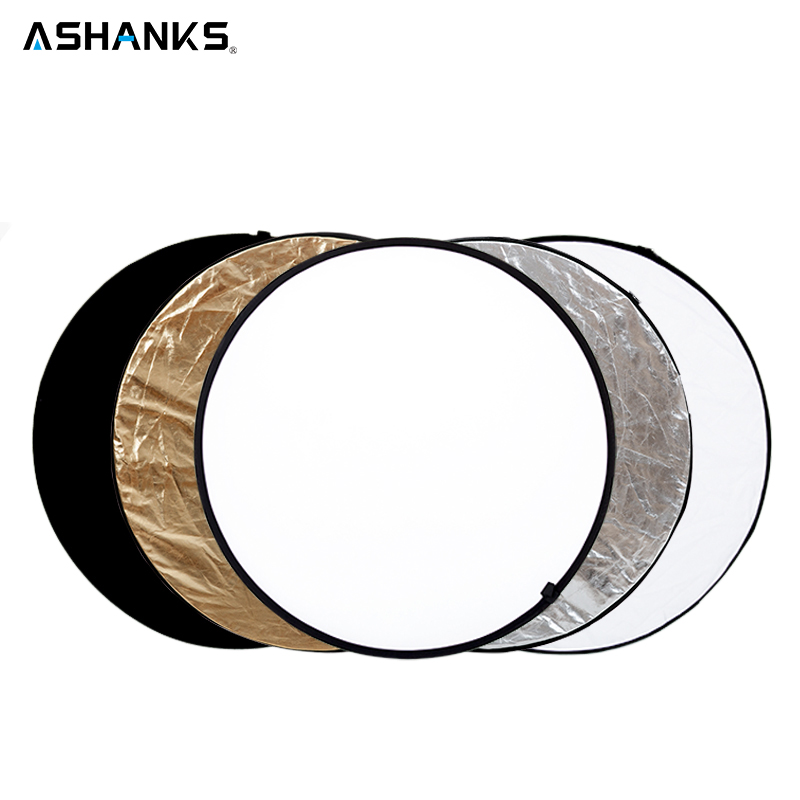 ASHANKS 60CM/23 5 in 1 Round Reflector for Camera Photo Studio Retrato Collapsible Photography Accessories / Flash Reflector цена