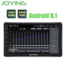 Радуясь 10,1 «4 Гб + 64 стерео автомобильное радио с GPS 1 Din Android 8,1 Octa Core HD головное устройство видео выход SWC Поддержка сабвуфер DSP