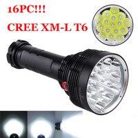 Led Light 38000LM 16x XM L T6 LED Flashlight 3 Mode Torch Light Lamp Waterproof