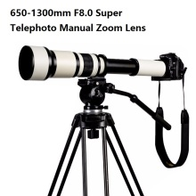 Big discount Lightdow 650-1300mm F8.0-F16 Super Telephoto Manual Zoom Lens+T2-Nikon for Nikon D3100 D3200 D5000 D5100 D5200 D7100 DSLR Camera