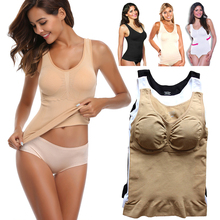 цена на Women'S Pajamas Sets Body Shaper Slimming Tops Push Up Bra Tank Top Underwear Slimming Vest Shapewear