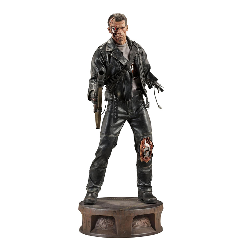 The Terminator 2 Action Figure T-800 Battle Damage Version Arnold PVC Action Figures Toy Collectible Model Dolls 21 Inches free shipping neca the terminator 2 action figure t 800 cyberdyne showdown pvc figure toy 718cm zjz001