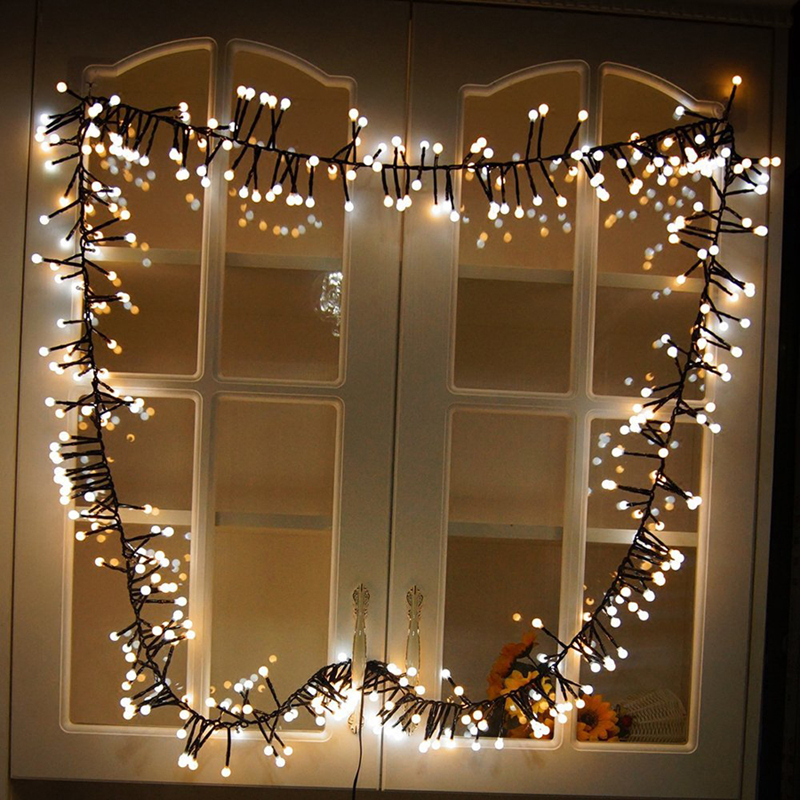 3M 400 LED Firecrackers String Lights 8 Modes Memory Waterproof Outdoor Decorative Lights For Courtyard Christmas Wedding Party