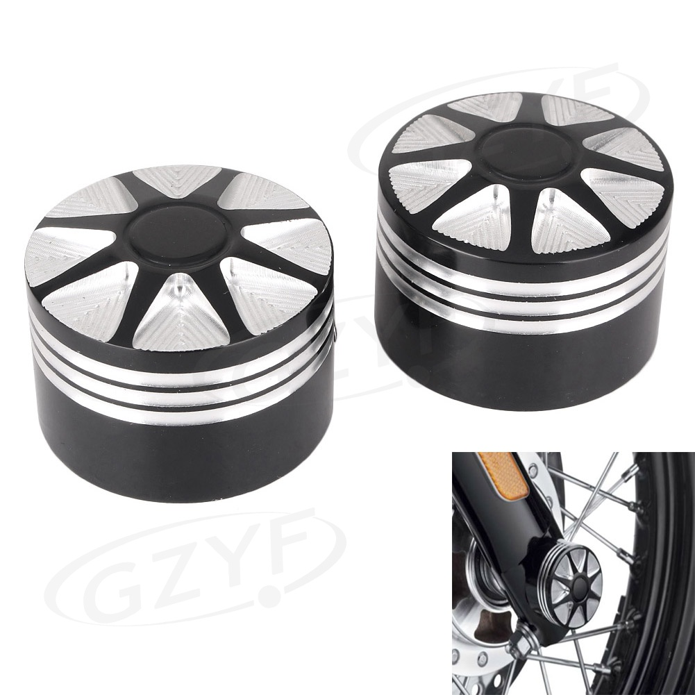 Front Axle Nut Cover Bolt For Harley Dyna Electra Road Glide VRSC XG XL Softail
