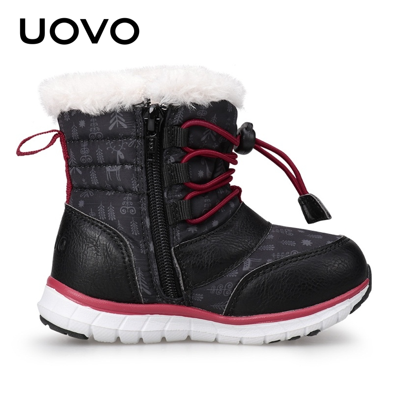 4c01b728122c ... BoysUOVO 2018 Black Snow Boots Kids Winter Boots Boys Waterproof Shoes  Fashion Warm Baby Boots For Boys Toddler Footwear Size 23-30 . 45% OFF.  Previous