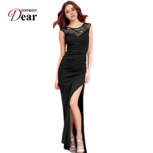 Comeondear New Arrival Club Dress 2 Colors Sequin Sleeveless Sexy Dress RK80176/RK80204 Side Open High Quality Long Dress