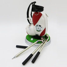 Golf Pen Holder Golf Bag three Ballpoints and clock Creative Perfact Golf Present freeshippng