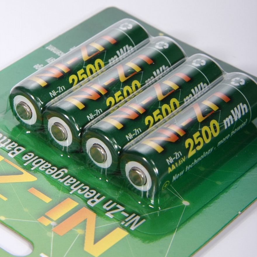 4PCS Nickel-zinc 2500mWh <font><b>1.6V</b></font> <font><b>AA</b></font> <font><b>Battery</b></font> Rechargeable <font><b>Battery</b></font> image