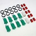 8x New Happ Style Push Buttons + One Two Player Button with Micro Switch For Arcade Diy Replacement Parts  #Green