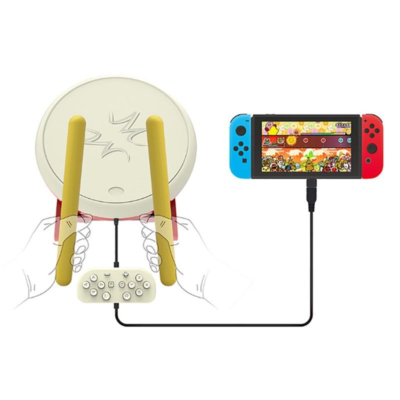 Pour Taiko tambour jeu vidéo baguettes de batterie poignée USB Kit pour n-switch contrôleur Console accessoires de jeu DC 5 V - 4