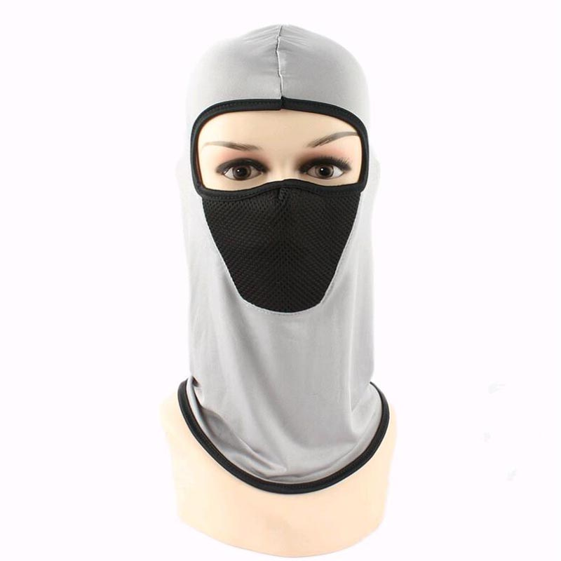 Summer Cool Motorcyle Full Face Cover Breathable Windproof Anti Dust Ski Mask Balaclava Sunscreen Multi-function sport beanie