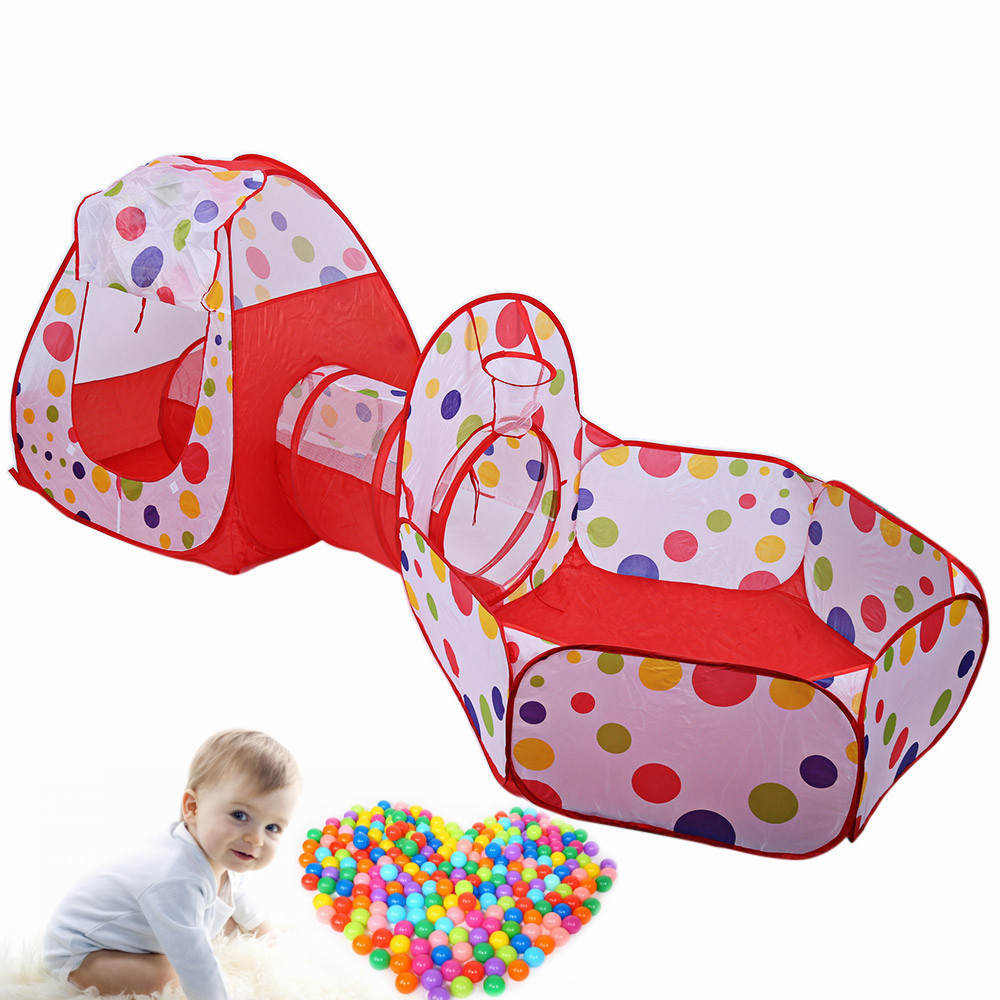 Baby Playing House Toys Storage Tent Portable Cubby-Tube-Teepee Pop-Up Play Tent Children Tunnel Kids Adventure House Hut Toy
