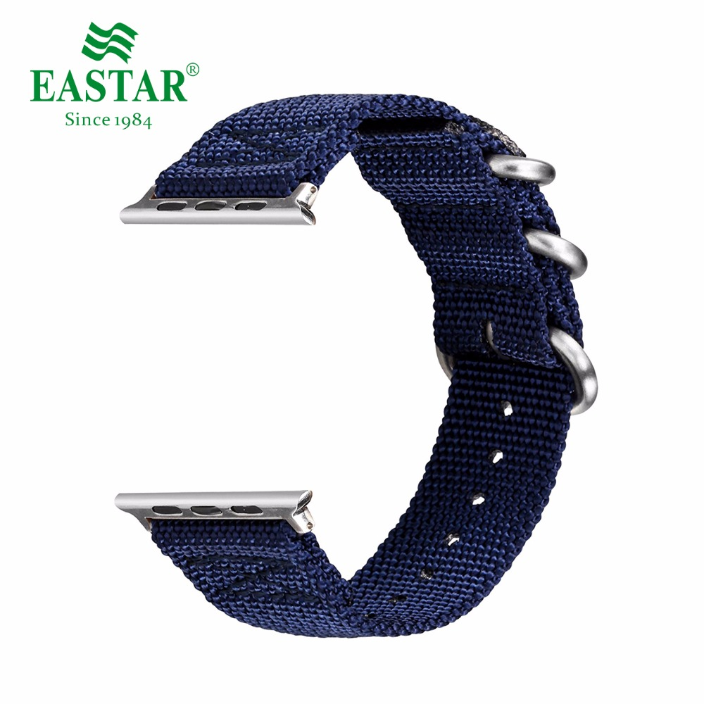 Eastar Woven Nylon Soft Replacement Watchband for Apple Watch Series 3/2/1 Classic Buckle 42 mm 38 mm Strap For iwatch Band eastar milanese loop stainless steel watchband for apple watch series 3 2 1 double buckle 42 mm 38 mm strap for iwatch band