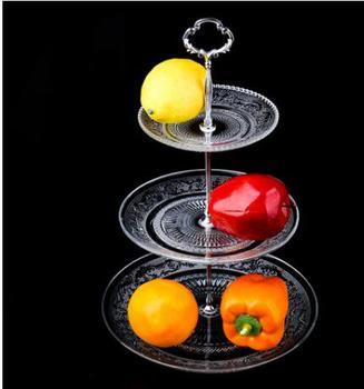 Crystal Glass Afternoon Tea Dessert Plate