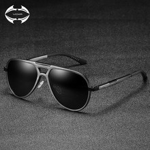 8bd8347d796fe VCKA Unisex Clássico Marca Homens Óculos De Sol De Alumínio HD UV400  Espelho Masculinos Mulheres Óculos de Sol Para Homens Polar.