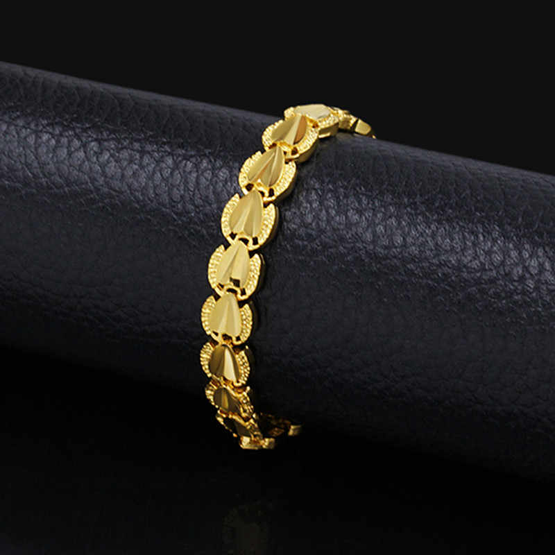 Infinity Love Gold Heart Bracelet Female,Retro Cheap Gold Color Hand Chain Luxury Woman Bracelets Wholesale African Jewelry
