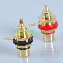 цена на 5Pairs RCA Terminal Jack Female Chassis Connector Gold Plated for Guitar Amplifier