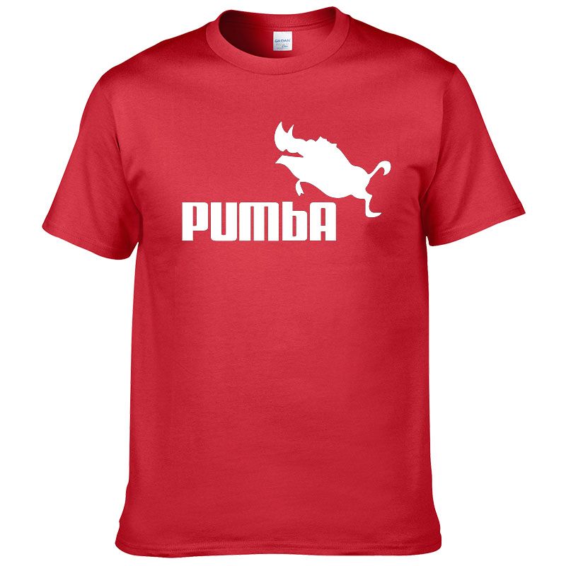 t-shirt pumba homme rouge
