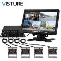 Truck DVR Monitor Dash Camera Rearview System Cam Video Recorder CCTV Vehicle 7 inch Display For Car Bus Parking 360 Rear View