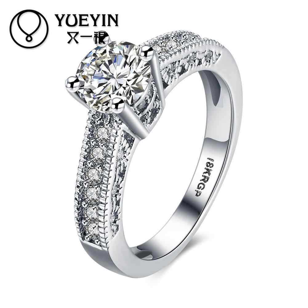 Yellow/Rose/ color gold color rings fashion jewelry anel feminino Rhinestone New Design Never fade High Quality
