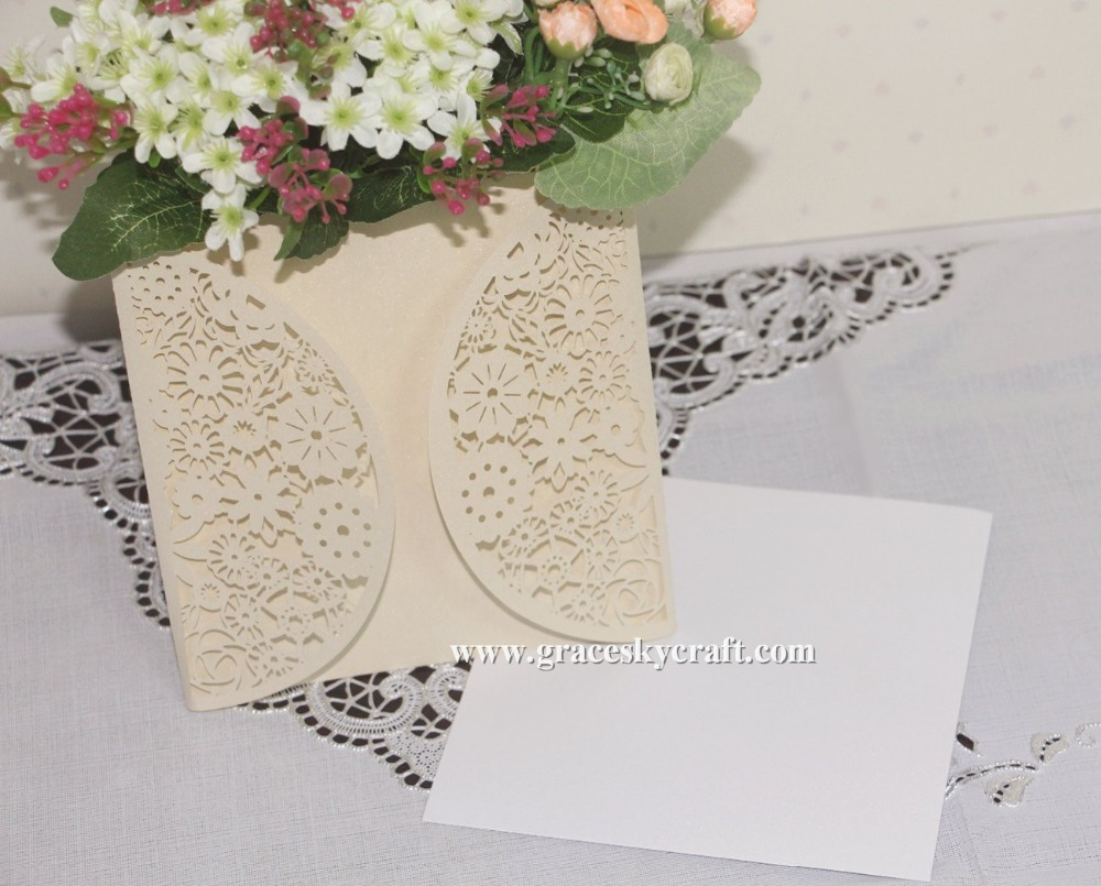 30pcs free shipping laser cut lace flowers design pearl paper ...