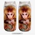 Nuevo Estilo 3D Print Harajuku Calcetines Para Hombres y Mujeres animales Diferentes Patrones Casual Poliéster Calcetín Primavera y Otoño Caliente venta