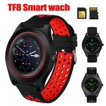 Tf8 спортивные часы трекер для фитнеса круглые Смарт телефона