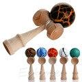 Segurança padrão de crack kendama brinquedo de bambu melhor toys crianças brinquedo educacional de madeira