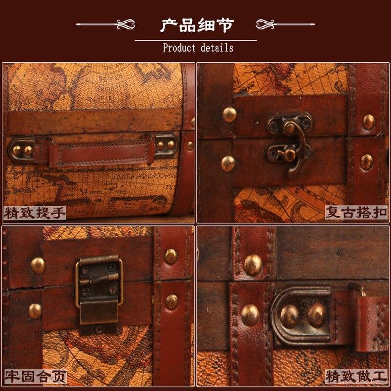 Gushifu Houten doos Europese koffer vintage doos Geschenk houten - Home opslag en organisatie - Foto 5