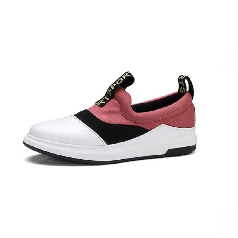 Slip Komfortable Müßiggänger Flachen Round Frauen yellow Pink Schuhe Toe Schönes Werbe Rosa Auf Herbst Vogue Heel Farbenblockdekoration xwBqRS7SY