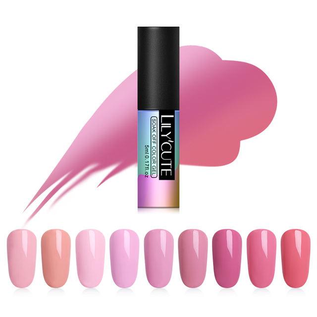 LILYCUTE 5ml Rose Pink UV Gel Nail Polish
