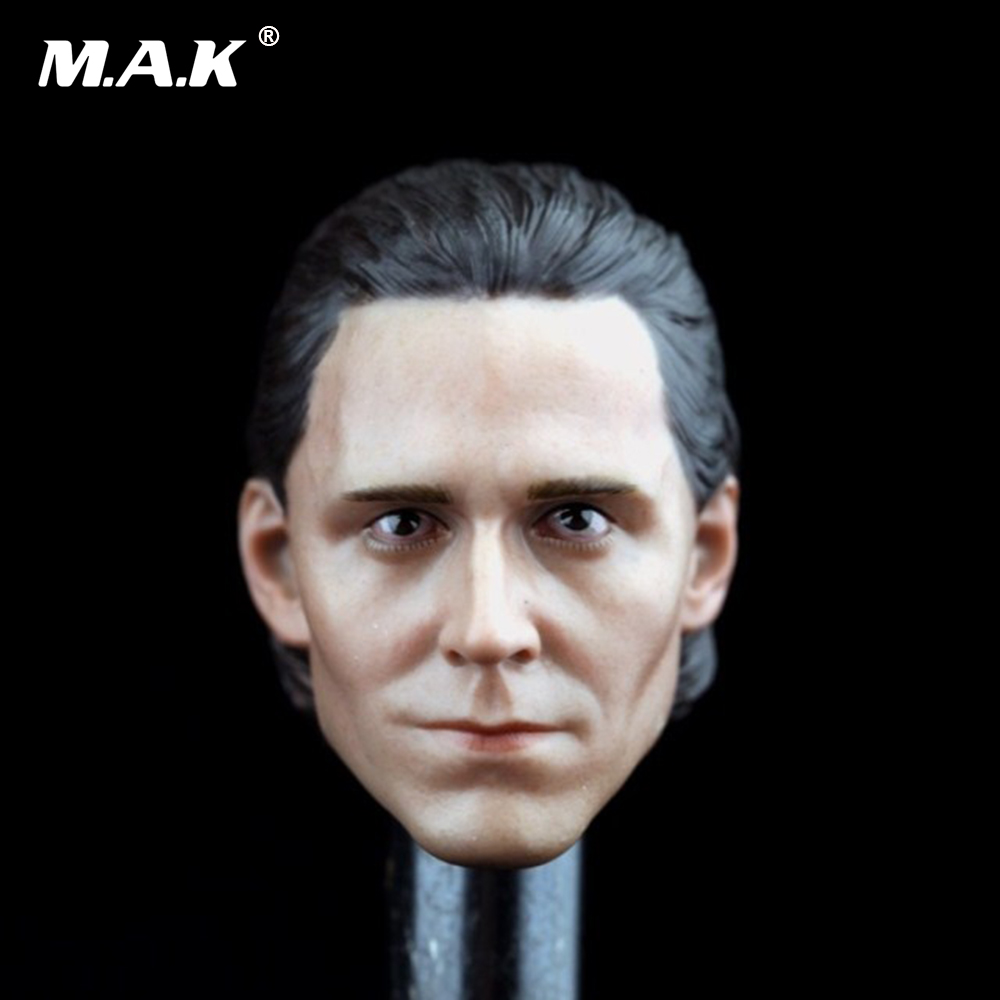 1/6 Scale Loki Head Sculpt  Cool Male Star Head Carving Model Fit 12Collectible Doll Toys Accessories b06 08 1 6 scale male head accessories carving sculpt model fit 12 inch phicen action figure doll toys