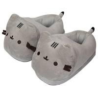 U19120 Winter Children Slippers For Kids Plush Baby Girls Boys Cartoon cat Slippers With Closed Heel Adult Home Flip Flops