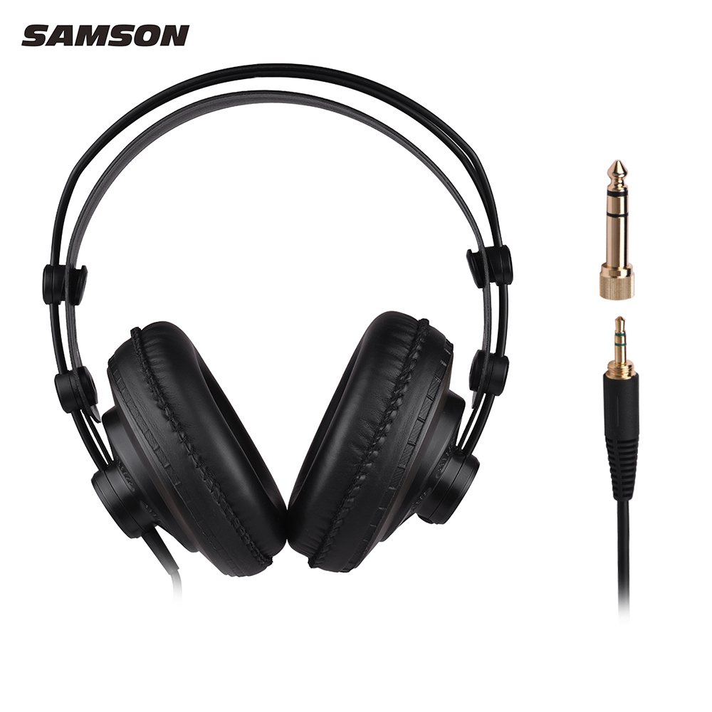 SAMSON SR850 Professional Studio Monitor Headphones Dynamic Headset Semi-open Design For Recording Monitoring Game Musician DJ