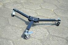 Professional Universal Folding 3 Wheels Dolly + Tripod For Crane Jib Camera Track
