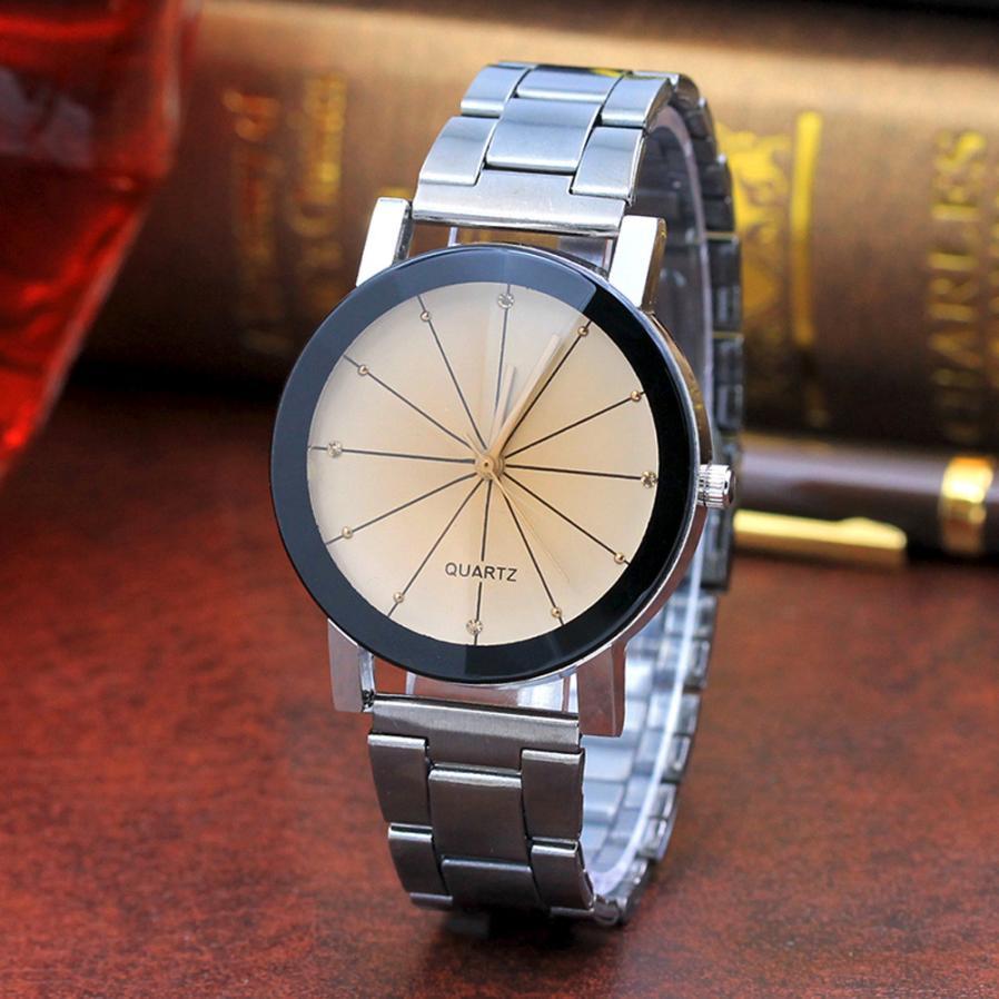 Роскошные брендовые уникальные часы для влюбленных пар с арабскими номерами Женские кварцевые наручные часы из нержавеющей стали с сеткой Reloj Masculino - Цвет: KHW