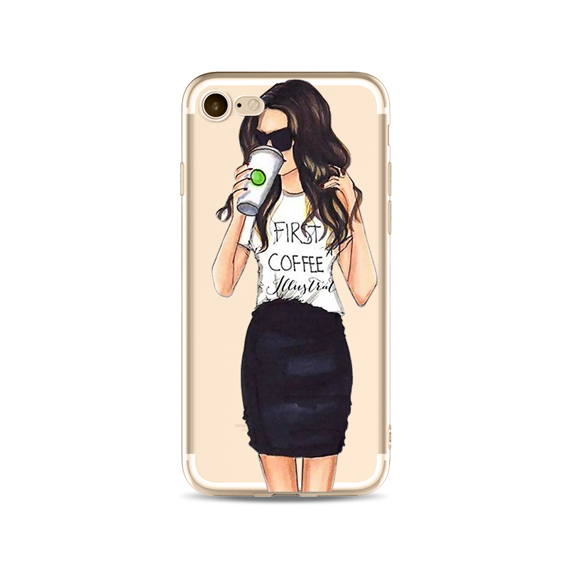 Unique Girl Phone Case For iPhone X Succulents Plants Cover Drink Summer Tavel Transparent Soft Silicon Mobile Phone Bag