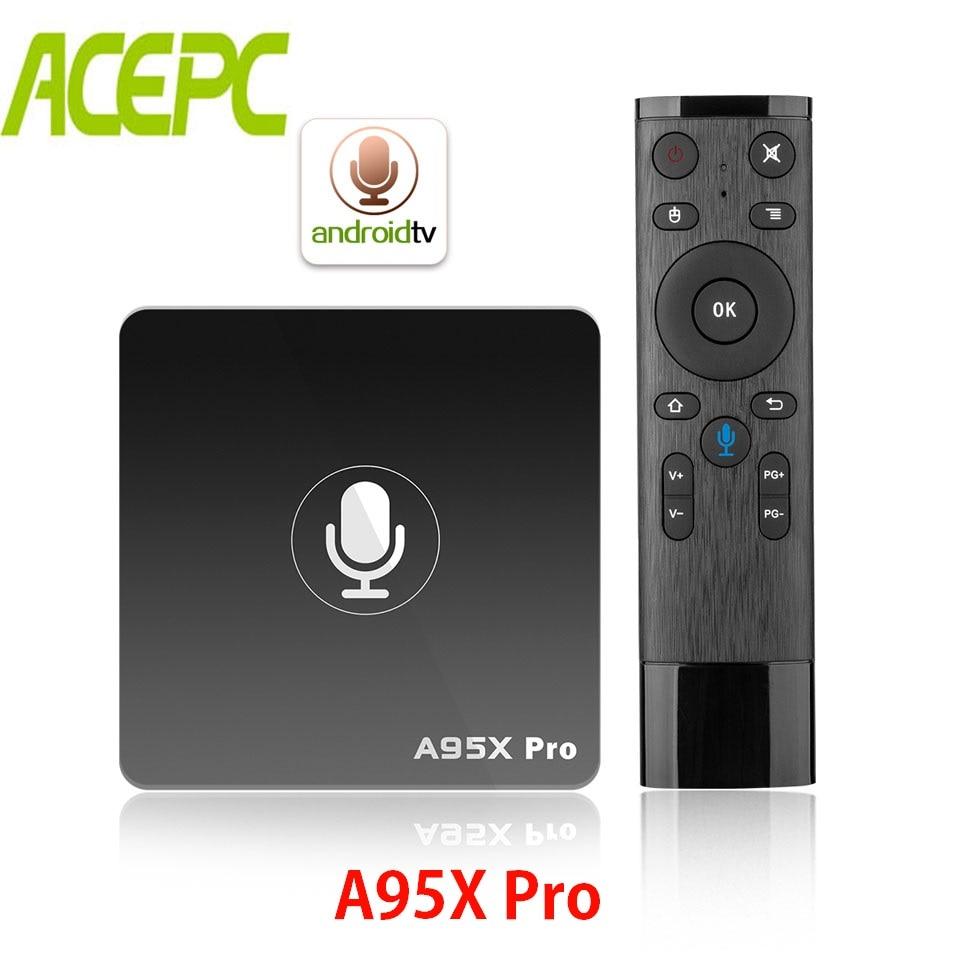 Google TV Box A95X Pro Smart TV Box Quad Core Amlogic S905W Android 7 1 TV