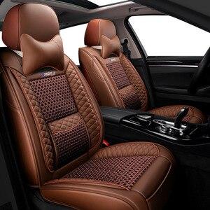 Funda de cuero para asiento de coche para mitsubishi pajero 4 2 sport outlander xl asx accesorios lancer cubiertas para asientos de vehículos