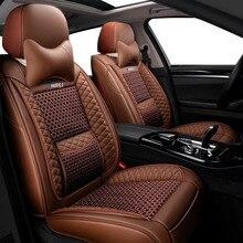 Housses de siège de voiture en cuir pour voiture, couvre siège de véhicule, pour mitsubishi pajero 4 2 sport outlander xl asx, accessoires lanceur