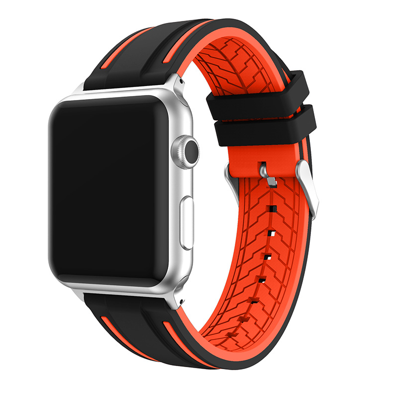 For Apple Watch Silicone Sports Watch Band Replacement 38 42mm Series 1 2 Double Color Mixed