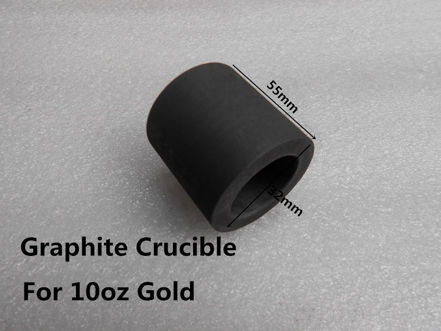 Graphite crucible for 10oz gold casting melting refining /FOR induction melting medium frequency furnace ,free shipping lacywear dg 207 spl