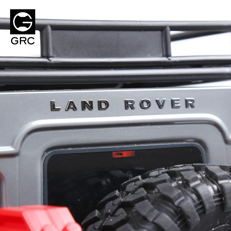 Traxxas Trx-4 TRX4 Rover RC4WD D90 D110 LAND ROVER DEFENDER Metal Logo Label Sticker