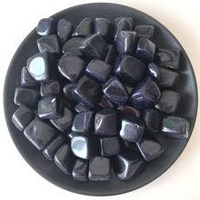 Mineral-Specimen Goldstone Crystal Rock Quartz Natural Blue And 50g Nugget C813