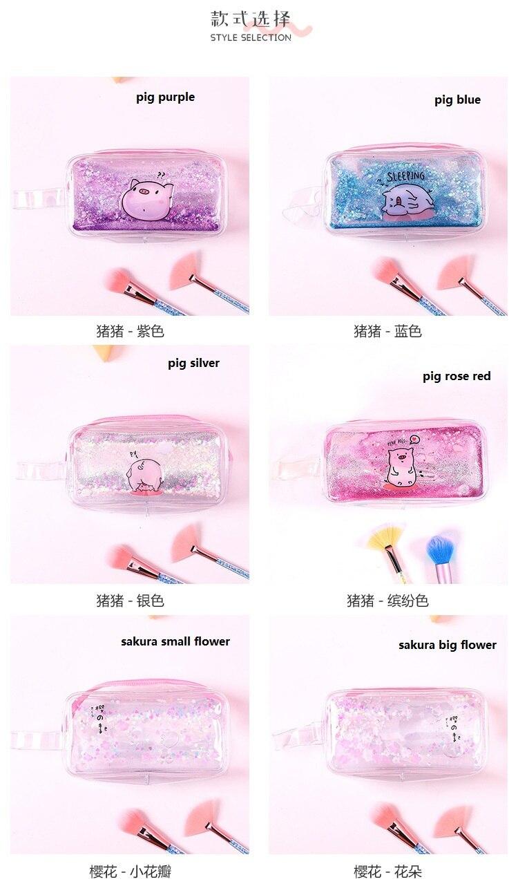 lápis caso sereia sakura pounch para meninas
