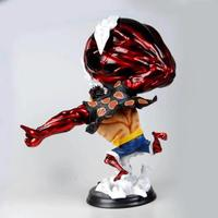 once Piece caliente 39 cm Monkey D. Luffyde Gear fourth Big PVC figura modelo juguetes Luffy batalla Ver figuras Dropshipping.