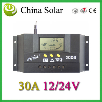 Genuine 30A 12/24V auto switch solar charge controller,family use the fixed LCD display,FEDEX DHL free shipping