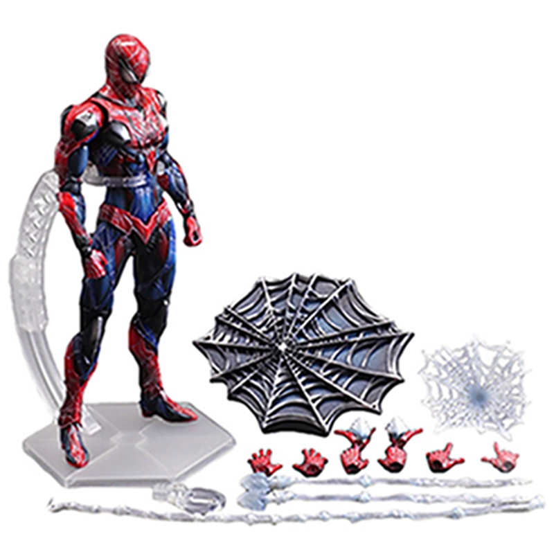 Play Arts Movie Marvel Spider man Peter Benjamin Parker Action Figure Super Hero PVC Predators Figures metal gear solid v the phantom pain play arts flaming man action figure super hero