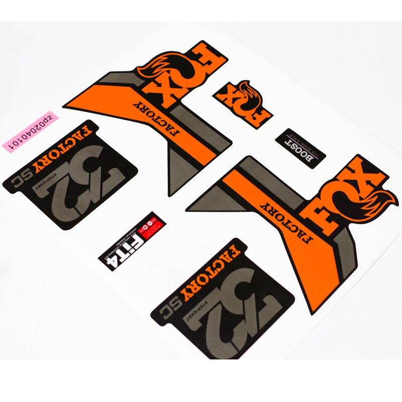 Raposa fábrica 32 adesivos/decalques de mountain bike garfo dianteiro para 26er 27.5er 29er mtb dh corrida frete grátis